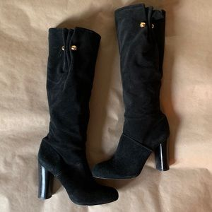 Tory Burch suede slouchy boot